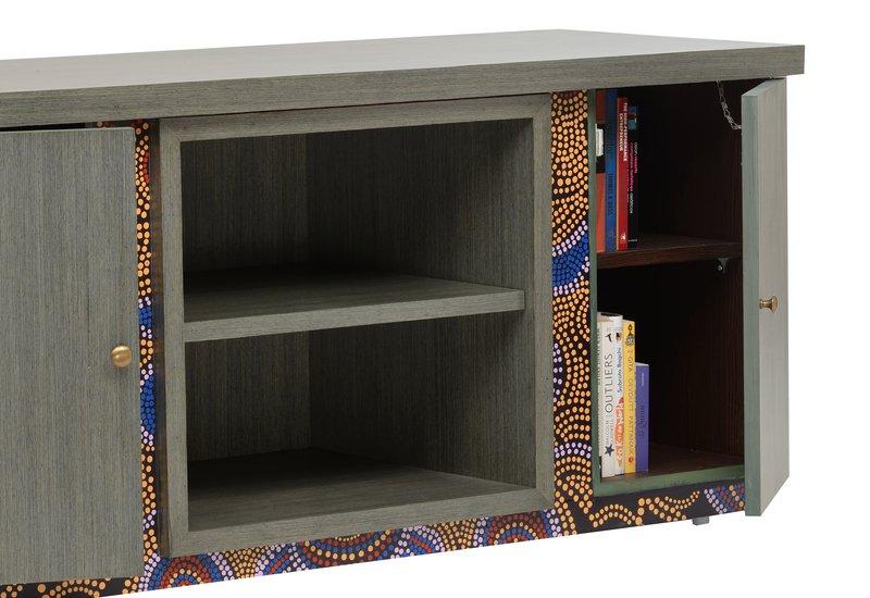 Artsy aboriginal sideboard square barrel treniq 4