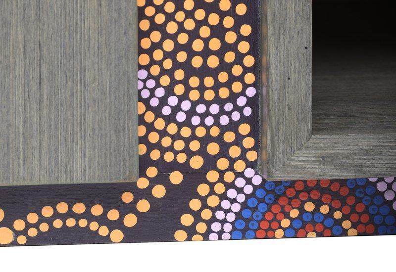 Artsy aboriginal sideboard square barrel treniq 6