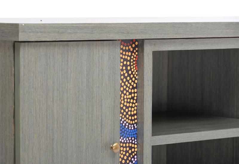 Artsy aboriginal sideboard square barrel treniq 7