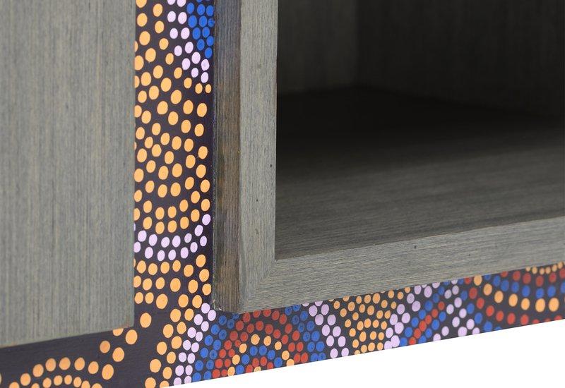 Artsy aboriginal sideboard square barrel treniq 8