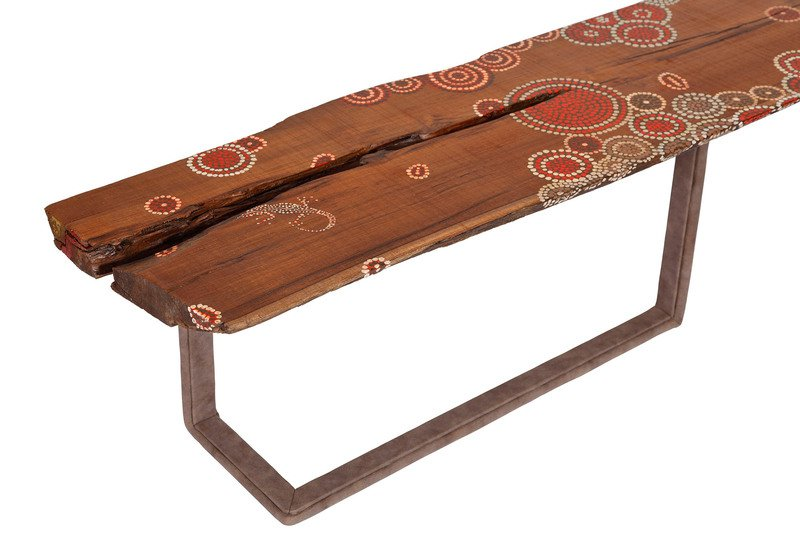 Aussie wood centre table square barrel treniq 4