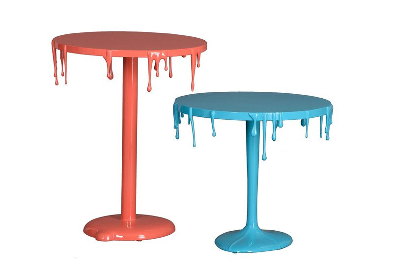 Paint drip table square barrel treniq 5