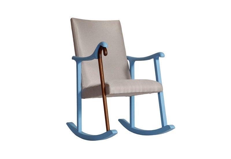 Rocking chair square barrel treniq 1