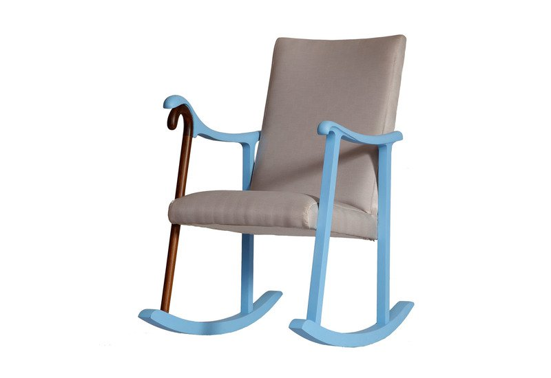 Rocking chair square barrel treniq 4