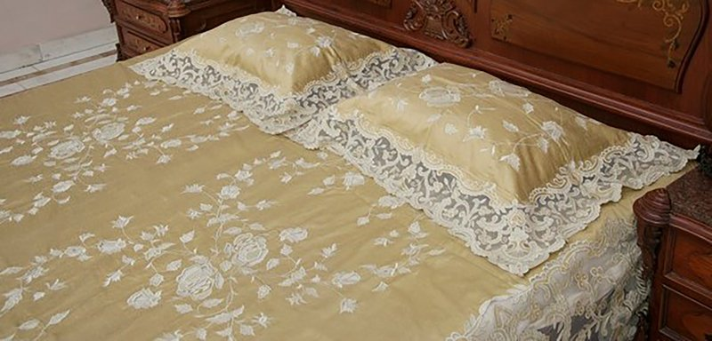 Bed cover   silk and net passionhomes by sarla antiques treniq 3 1566887054214