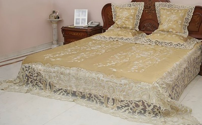 Bed cover   silk and net passionhomes by sarla antiques treniq 2 1567489956390