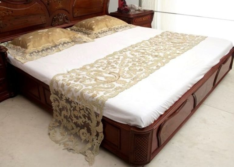Bed cover   silk and net passionhomes by sarla antiques treniq 3 1567575700792
