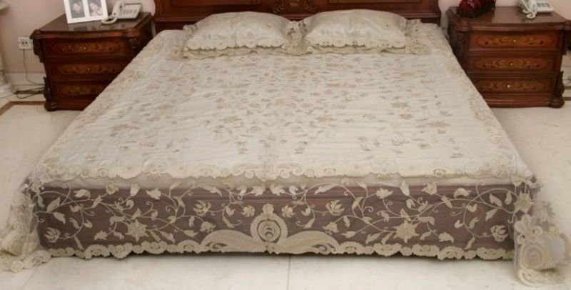 Bed cover   silk and net passionhomes by sarla antiques treniq 3 1567575719630