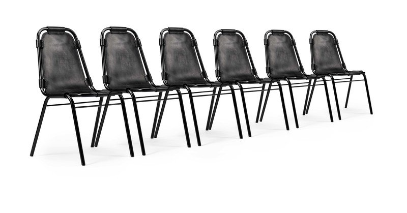 Fully restored vintage 'les arcs' chairs designed by charlotte perriand. rhubarbchairs treniq 1 1567947133294