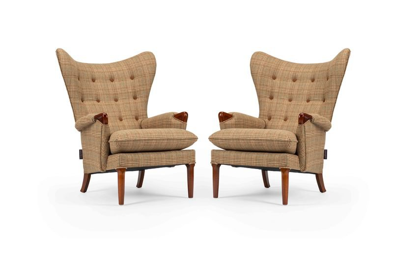 Unique   eclectic pair of iconic mid century 1960's vintage wingchair's rhubarbchairs treniq 1 1568717095348