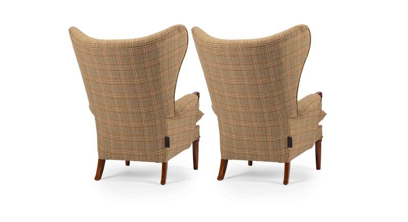 Unique   eclectic pair of iconic mid century 1960's vintage wingchair's rhubarbchairs treniq 1 1568717121071