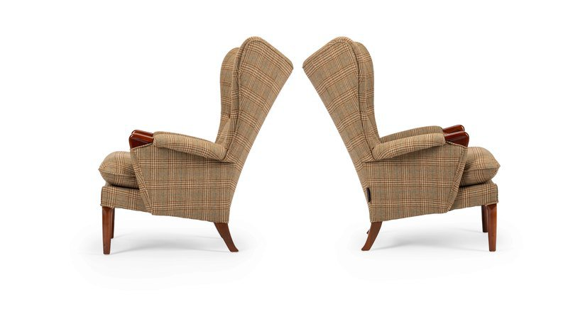 Unique   eclectic pair of iconic mid century 1960's vintage wingchair's rhubarbchairs treniq 1 1568717160798