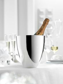 Silver Champagne Cooler & Ice Cooler