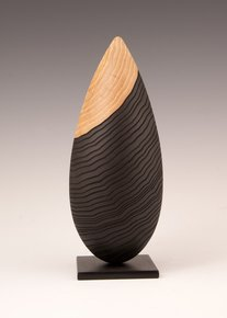 Wood Sculpture: Natural or Black Almond