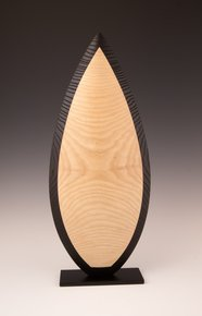 Wood Sculpture: Natural & Black Almond