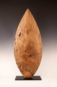 Wood Sculpture: Natural Ash Almond