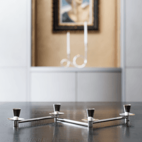 Low Rise Silver Candlestick