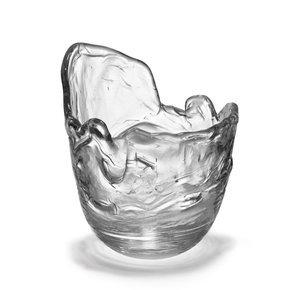 Frozen Hand Blown Glass Bottle Cooler