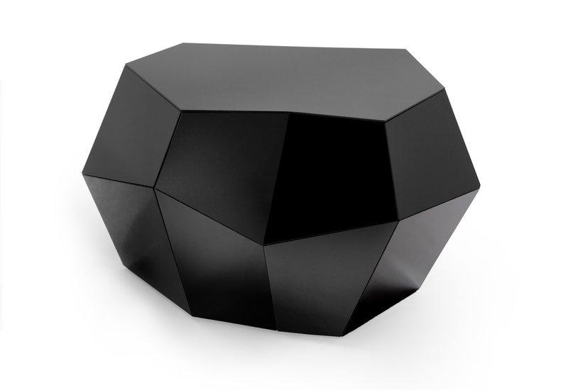 Three rocks medium table black glass insidherland treniq 1