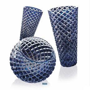 Crystal Blue Italian Vase