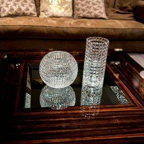 Italian Crystal Sphere Vase