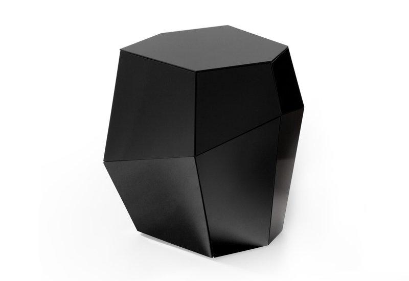 Three rocks medium table black glass insidherland treniq 2