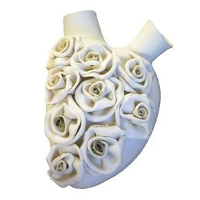 Rosery Biscuit Porcelain Heart