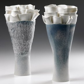 Biscuit Porcelain Long Vase