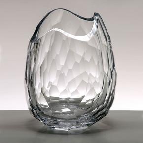 """""""Glacier"""" Crystal Vase"""