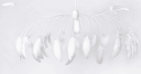 White Séléné Feather Light Pendant
