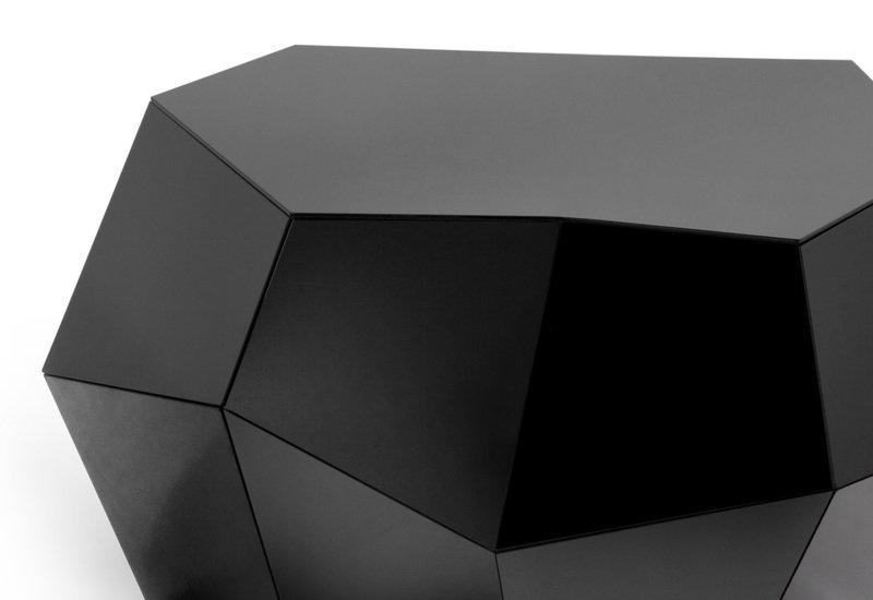 Three rocks medium table black glass insidherland treniq 3