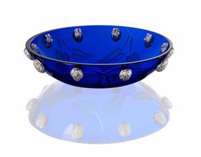 Blue Crystal walnut Bowl