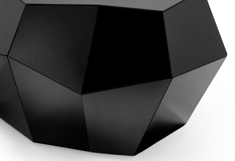 Three rocks medium table black glass insidherland treniq 4