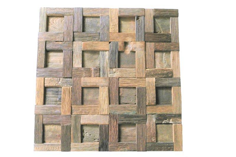 Rustic wall tiles  wood mosaic  rustic decor  wall covering  reclaimed wood wood mosaic ltd treniq 5 1571345732190