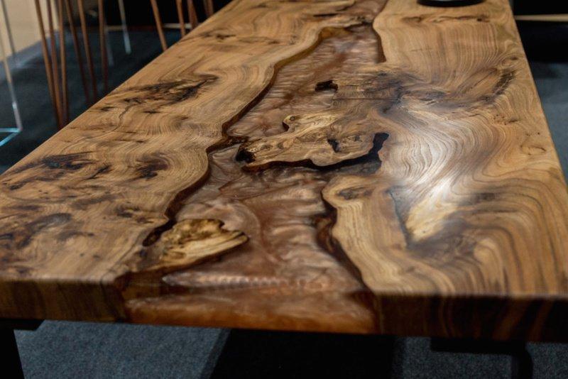 Elm wood and mellow copper resin coffee table raven river designs ltd treniq 1 1571398117355