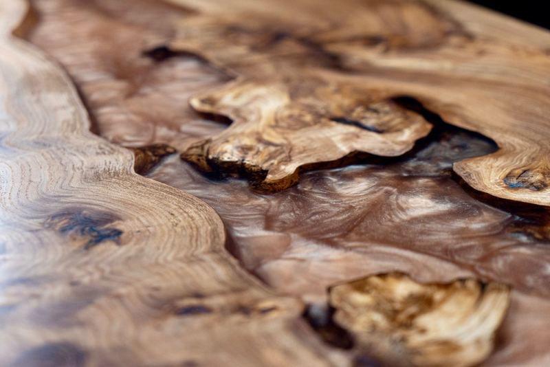 Elm wood and mellow copper resin coffee table raven river designs ltd treniq 1 1571398117358
