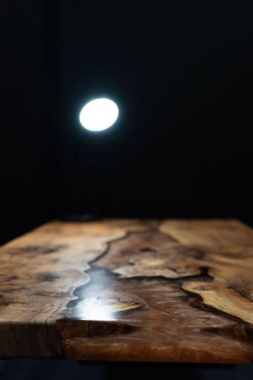 Elm wood and mellow copper resin coffee table raven river designs ltd treniq 1 1571398117360