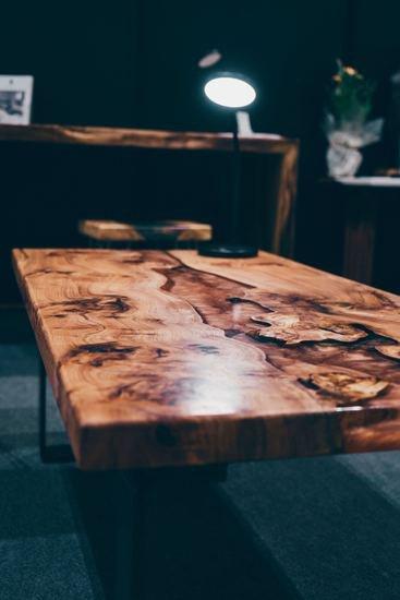 Elm wood and mellow copper resin coffee table raven river designs ltd treniq 1 1571398117359