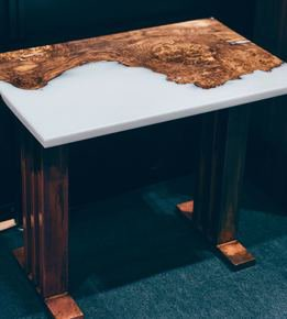 Burr-Oak-And-White-Resin-Side-Table-On-Distressed-Copper-Legs_Raven-River-Designs-Ltd_Treniq_0