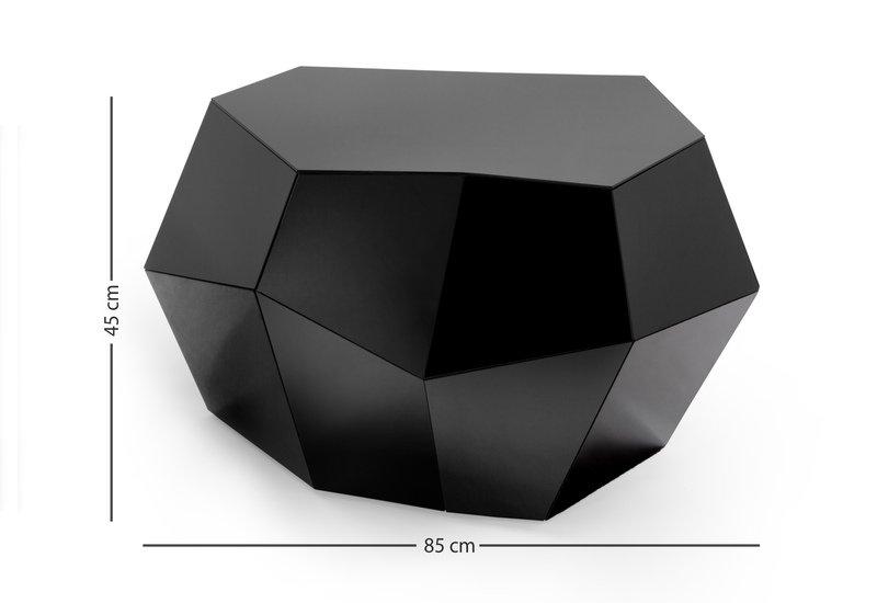 Three rocks medium table black glass insidherland treniq 6