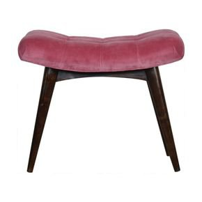 Pink-Cotton-Velvet-Deep-Button-Bench-In930_Artisan-Furniture_Treniq_0