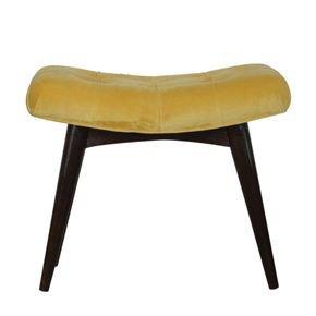 Mustard-Cotton-Velvet-Deep-Button-Bench-In928_Artisan-Furniture_Treniq_0