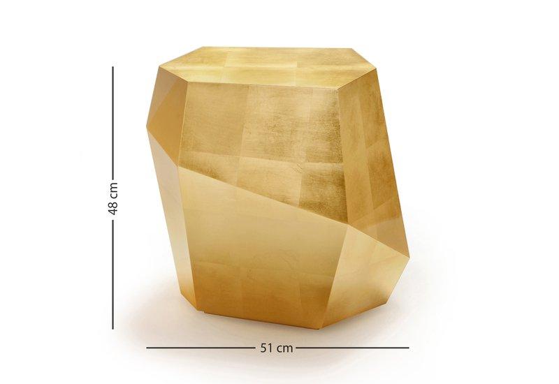 Three rocks high table gold leaf insidherland treniq 5