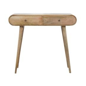 2 Drawer Console Table With Rounded Edges  - IN856