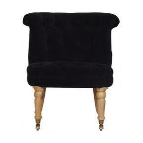 Black-Velvet-Accent-Chair-In897_Artisan-Furniture_Treniq_0