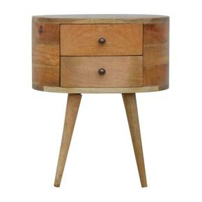 Rounded Bedside Table - IN862