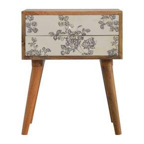 Black-Floral-Screen-Printed-Bedside-In293_Artisan-Furniture_Treniq_0