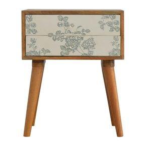 Green-Floral-Screen-Printed-Bedside-In296_Artisan-Furniture_Treniq_0