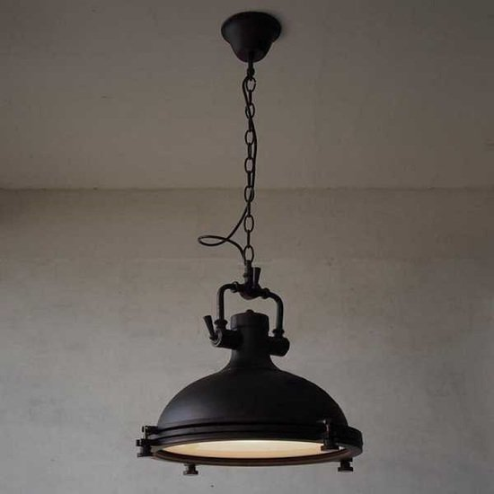 Industrial style  restaurant  vintage  black metal pendant light  suspended wood mosaic ltd treniq 1 1572217310863