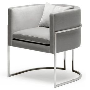 Julius Small Stainless Steel Dining Chair